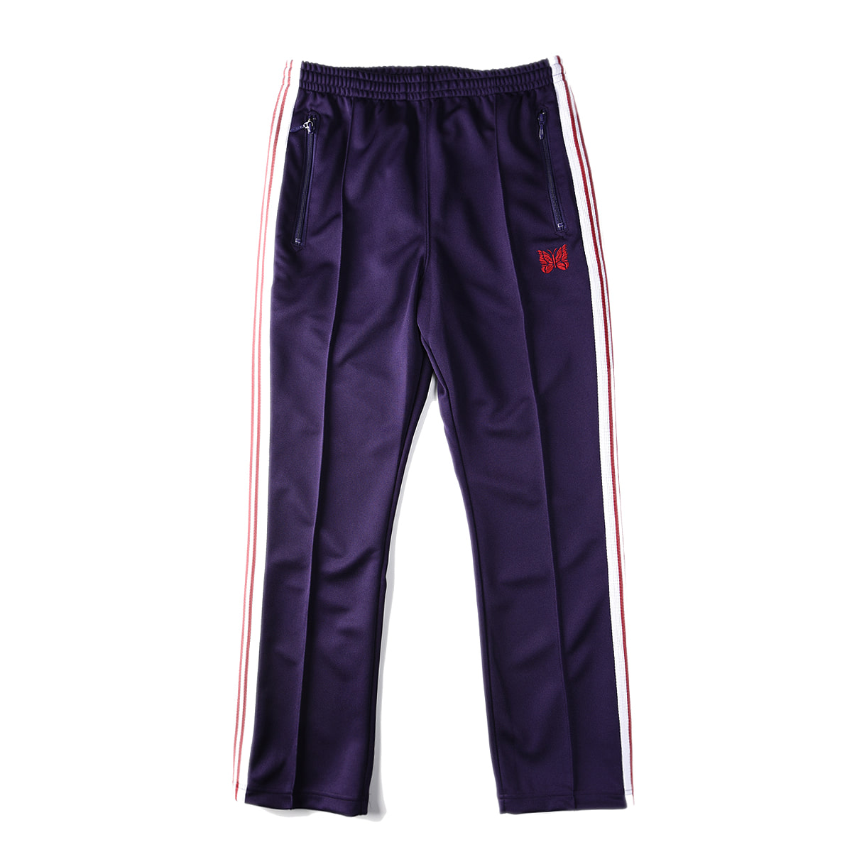 "NEEDLES Narrow Track Pant Poly Smooth ""Eggplant"""