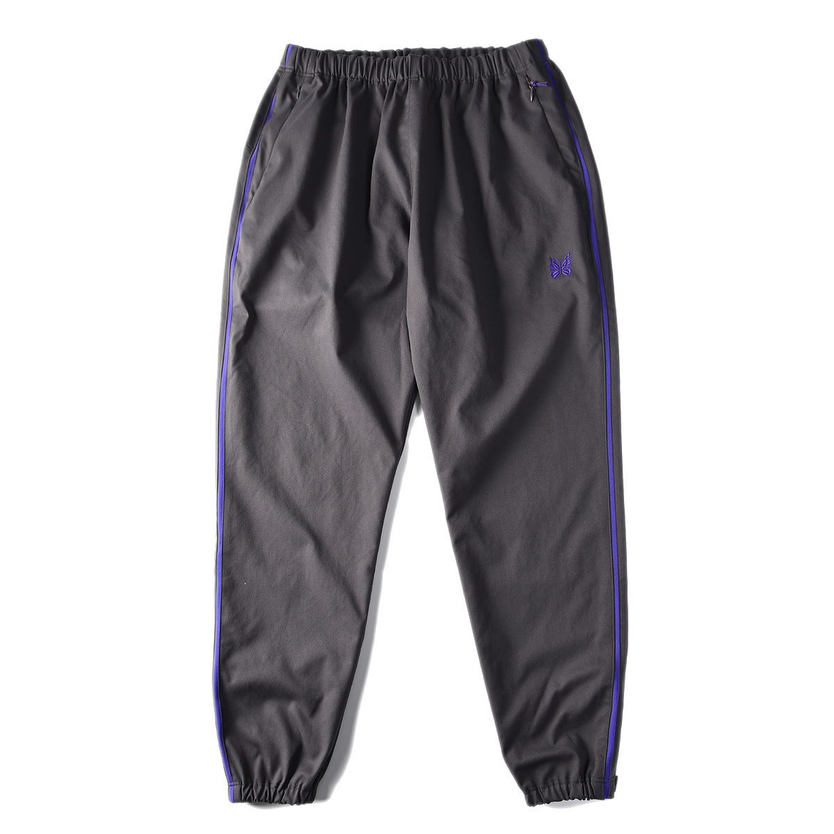 "NEEDLES Side Line Seam Packet Easy Pant Poly Dry Twill ""Charcoal"""