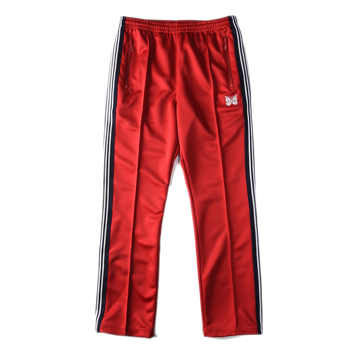 "NEEDLES Narrow Track Pant Poly Smooth ""Red"""