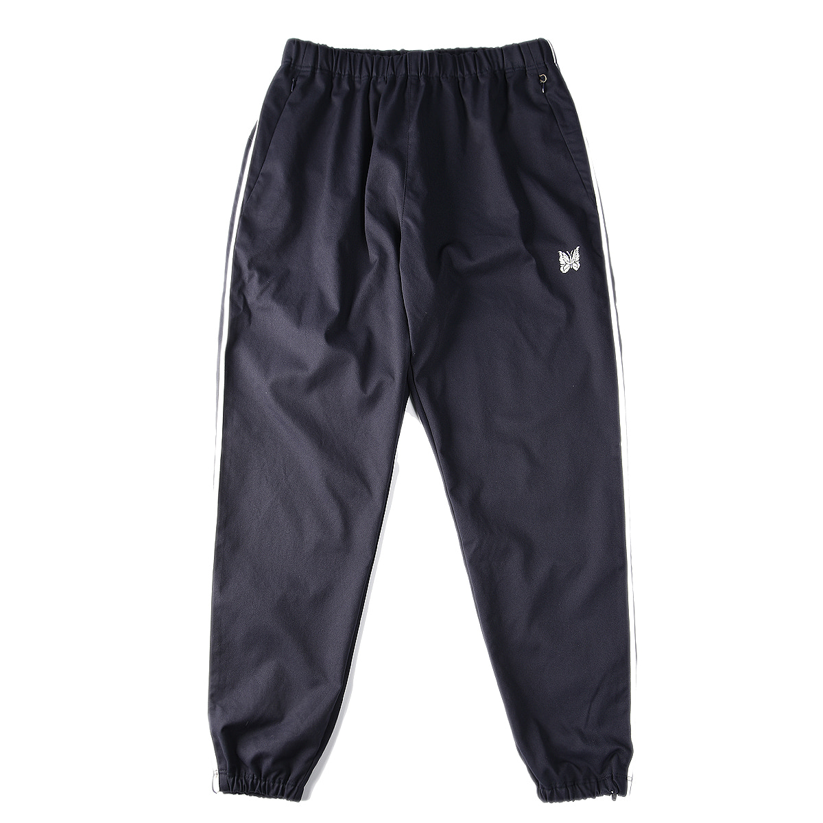"NEEDLES Side Line Seam Packet Easy Pant Poly Dry Twill ""Navy"""